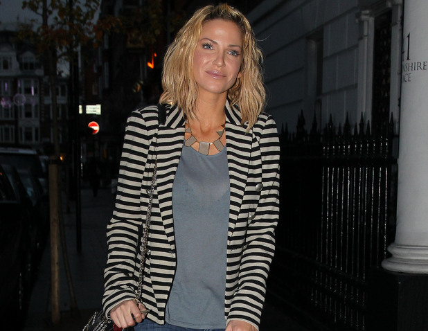Sarah Harding out and about in central London London
