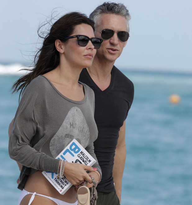 Gary Lineker with his wife Danielle enjoying a holiday on St. Barthelemy Island St. Barts