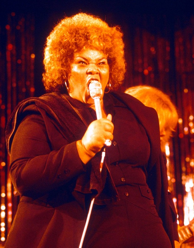 Etta James performing in 1977