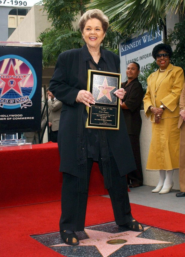 Receiving a Hollywood Walk of Fame star