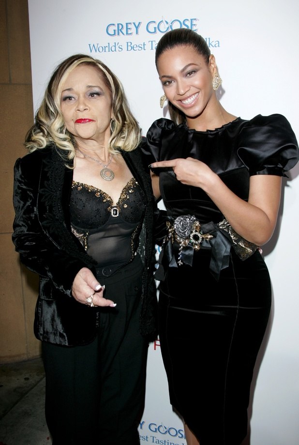 Etta James and Beyonce Knowles at the 'Cadillac Records' Film premiere in 2008