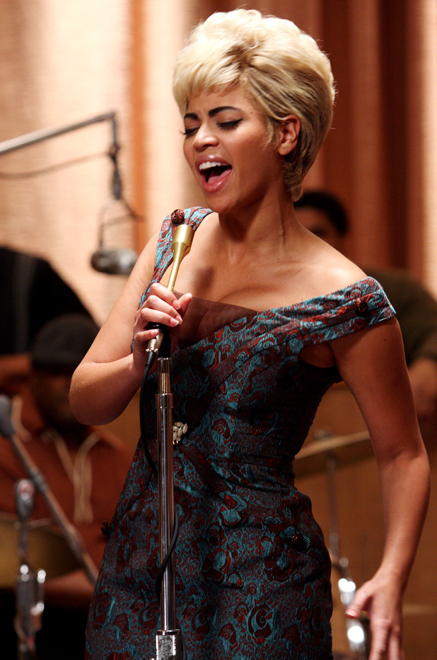 Beyonce Knowles as Etta James in 'Cadillac Records',  a biographical film and musical drama, exploring the 1950s musical era and chronicling the rise and fall of influential R&B record label, Chess Records (2008)
