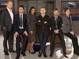 Law & Order UK: PETER DAVIDSON as Henry Sharpe, DOMINIC ROWAN as Jacob Thorne, FREEMA AGYEMAN, BRADLEY WALSH as DS Ronnie Brooks, PAUL NICHOLLS as DS Sam Casey and HARRIET WALTER as DI Natalie Chandler.