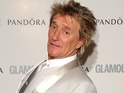 Rod Stewart reunites with Ronnie Wood for the induction of The Small Faces.