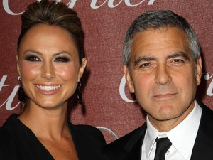 Stacy Keibler and George Clooney The 23rd annual Palm Springs International Film Festival Awards Gala at The Palm Springs Convention Center - Arrivals Held At The Palm Springs Convention Center Palm Springs California 1/7/11 Mandatory Credit: FayesVision/WENN.com