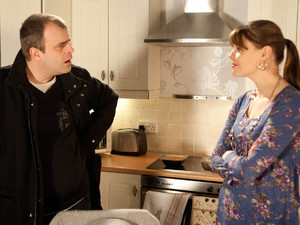 Steve is unnerved when he arrives back home and Tracy has cooked a romantic meal for them