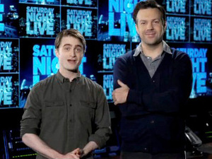 Daniel Radcliffe and Jason Sudeikis promo for Saturday Night Live