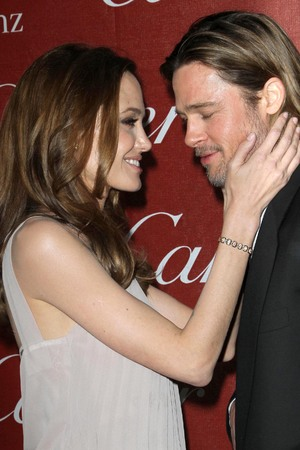 Angelina Jolie and Brad Pitt The 23rd annual Palm Springs International Film Festival Awards Gala at The Palm Springs Convention Center - Arrivals Los Angeles, California - 07.01.12 Mandatory Credit: FayesVision/WENN.com