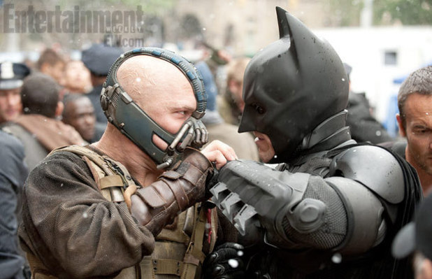 The Dark Knight Rises, Batman, Bane, Tom Hardy, Christian Bale