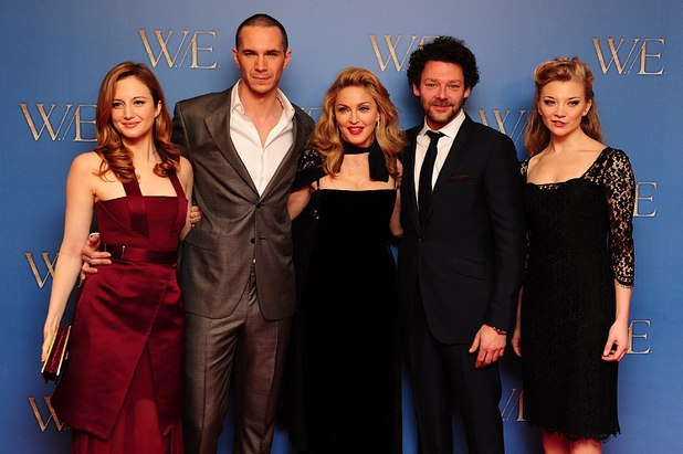 Andrea Riseborough, James D'Arcy, Madonna, Richard Coyle and Natalie Dormer