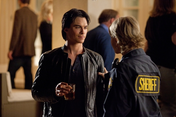 Damon and Sheriff Forbes