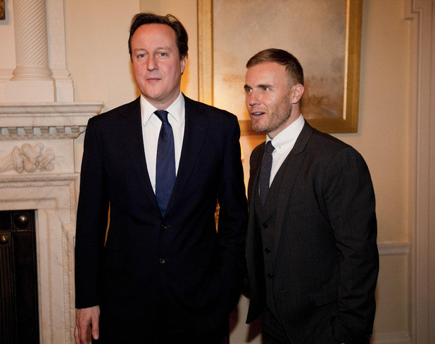 Gary Barlow, David Cameron