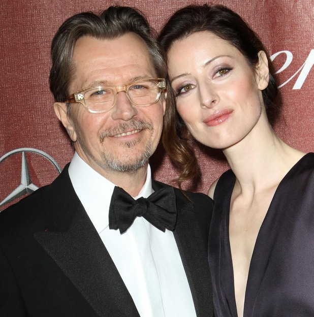 Gary Oldman and wife Alexandra Edenborough