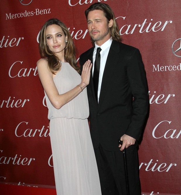 Angelina Jolie and Brad Pitt The 23rd annual Palm Springs International Film Festival Awards Gala at The Palm Springs Convention Center - Arrivals Los Angeles