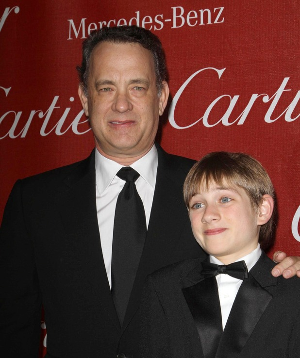Tom Hanks and Thomas Horn