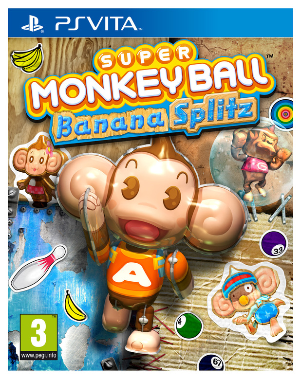 'Super Monkey Ball Banana Splitz' pack shot