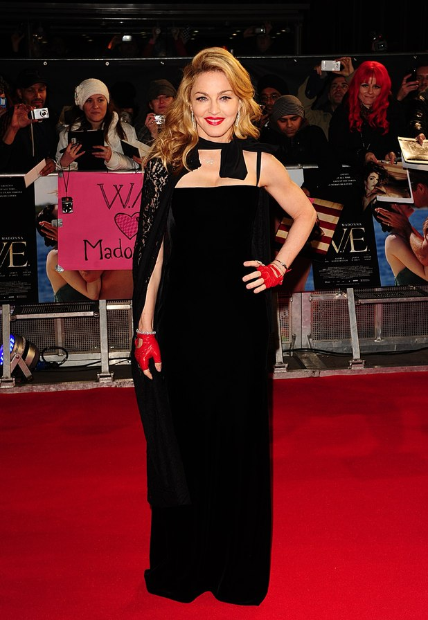 Madonna arriving for the UK Premiere of W.E, at Odeon Kensington High Street, London