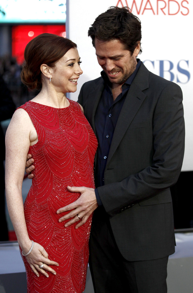 Alyson Hannigan with Alexis Denisof