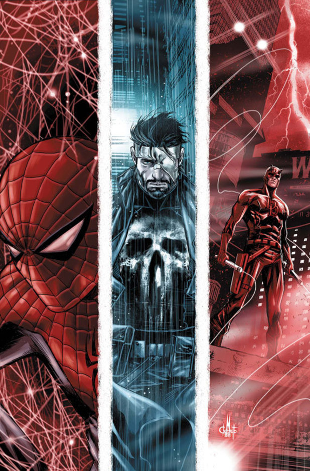 The Omega Effect Spider-Man Daredevil Punisher