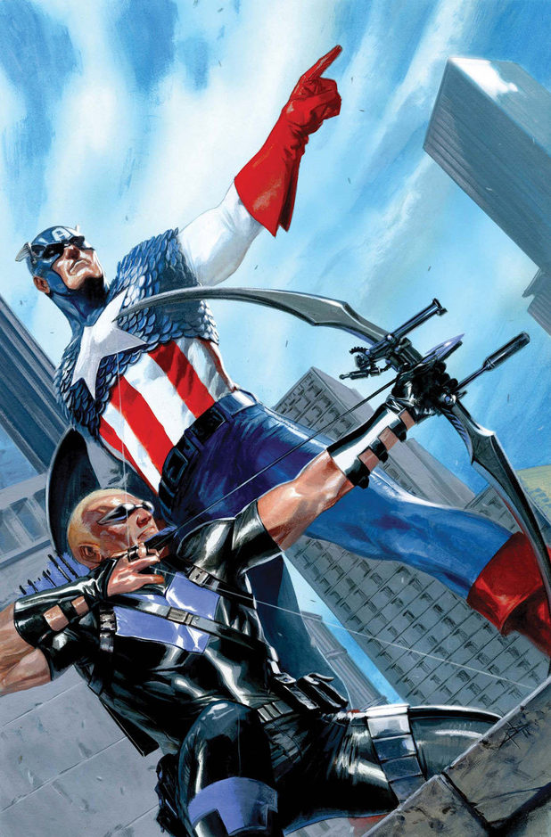 'Captain America & Hawkeye' artwork