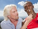 "The world's fastest man signs up to front Virgin Media's ""keep up"" campaign."