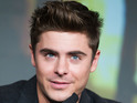 Zac Efron appears to drop a condom on the red carpet in a YouTube video.