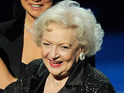 The crowd celebrates Betty White's 90th birthday with a standing ovation.