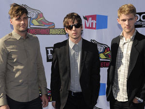 Cubbie Fink, Mark Foster and Mark Pontius, of music group Foster the People