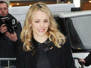 Rachel McAdams outside the the BBC Radio 1 studios London