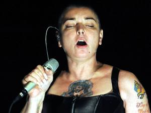 Newly married singer Sinead O'Connor performs at The Olympia Theatre Dublin, Ireland