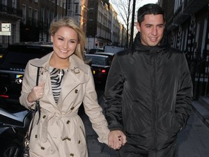 Sam Faiers and boyfriend TJ arriving at 'Smile' Dentist in Harley Street London