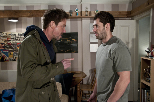 Cameron visits Andy and angrily threatens him to stay away from Debbie