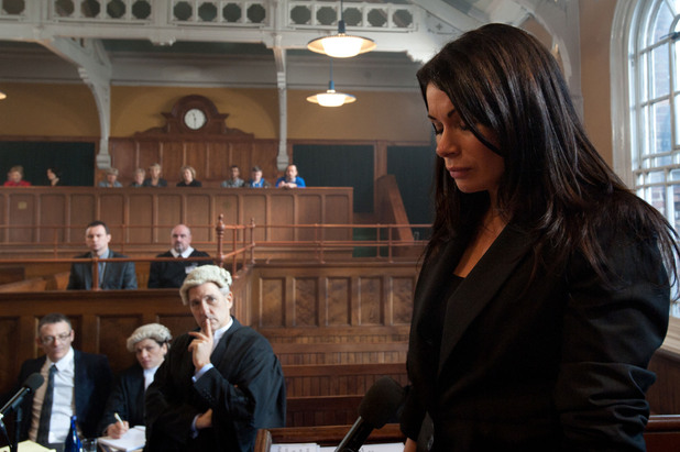 In the witness box Carla is questioned by Frank's lawyer over her relationship with Peter, leaving her uncomfortable as she insists that they are just friends