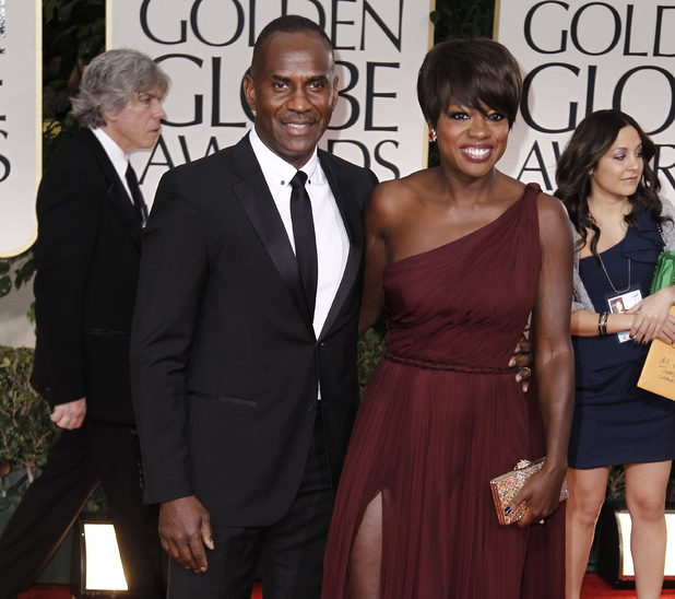 Viola Davis with cool, Husband Julius Tennon