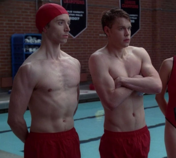 Chord Overstreet shirtless in 'Glee'