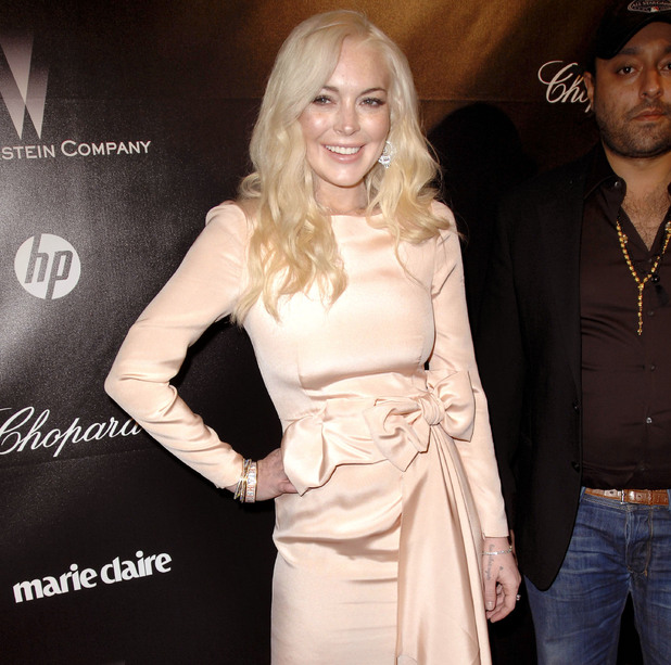 Lindsay Lohan, The Weinstein Company 2012 Golden Globe After Party