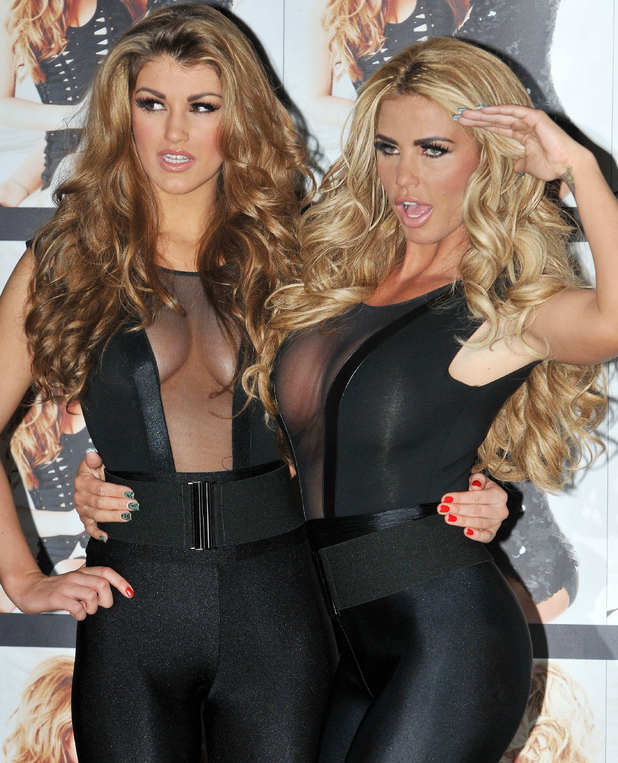 Amy Willerton and Katie Price