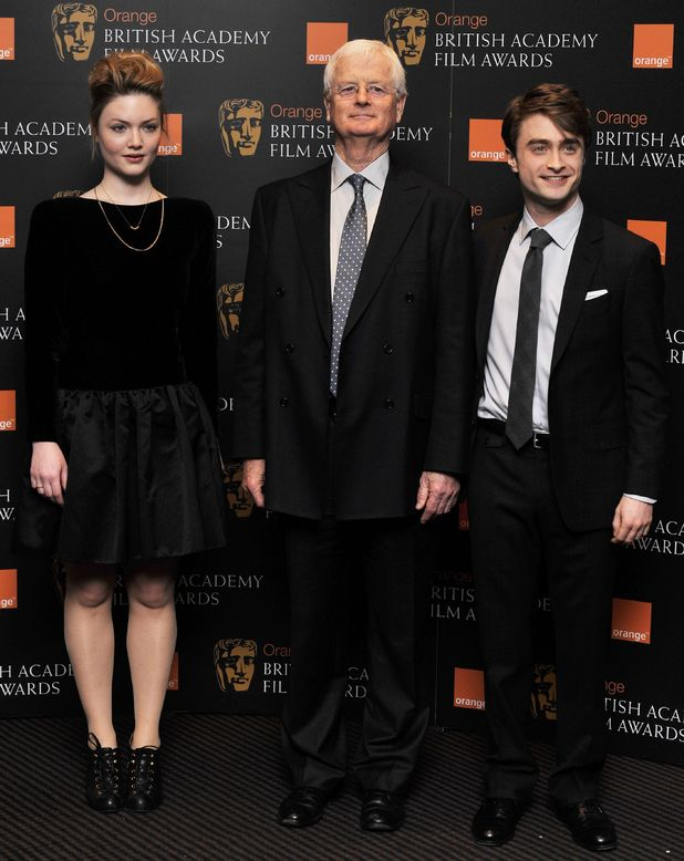 Holliday Grainger, BAFTA chairman Tim Corrie and Daniel Radcliffe