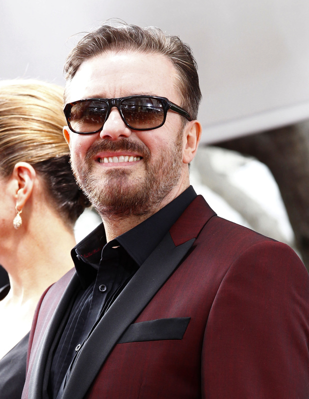 Ricky Gervais at The 69th Annual Golden Globe Awards