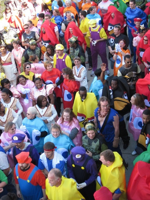 Largest gathering of people dressed as video games characters