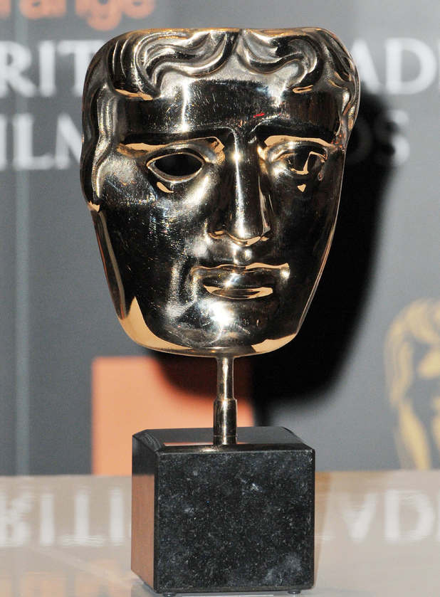 A close up of the BAFTA Award