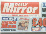 The Daily Mirror front cover