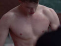 Click in to see Chord Overstreet shirtless on the most recent episode of Glee.