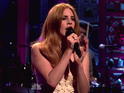Kristen Wiig dresses as Lana Del Rey for Seth Meyers's 'Weekend Update'.