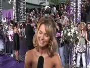 Kara Tointon being interviewed on the red carpet at the 2007 British Soap Awards in London.