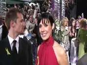 Kym Ryder being interviewed on the red carpet at the 2007 British Soap Awards in London.