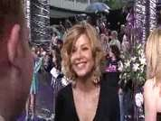 Glynis Barber being interviewed on the red carpet at the 2007 British Soap Awards in London.
