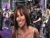 Linda Lusardi being interviewed on the red carpet at the 2007 British Soap Awards in London.