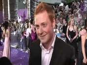 Charlie Clements being interviewed on the red carpet at the 2007 British Soap Awards in London.