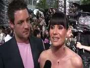 Lucy Pargeter being interviewed on the red carpet at the 2007 British Soap Awards in London.
